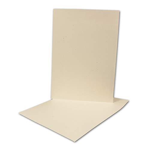 ARTOZ 50x Briefbogen DIN A4 ohne Falz - Farbe: Tortilla (Creme) - 21x29,7 cm - 118 g/m² - Einzelkarten - Einladungs-Karten - Serie Green-Line