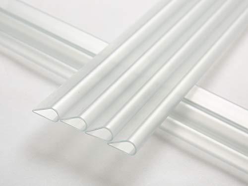 Naimorui 30 Stück Befestigungsclips Klemmschienen für PVC Sichtschutzfolie Sichtschutzstreifen - 30 Stück/Pack, Transparent