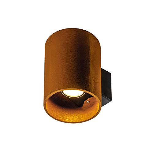 SLV Wandaufbauleuchte RUSTY® UP/DOWN WL / Beleuchtung für Wände, Wege, Eingänge, LED Spot außen, Aufbau-Leuchte Outdoor, Gartenlampe / IP65 14.0W 525lm rost