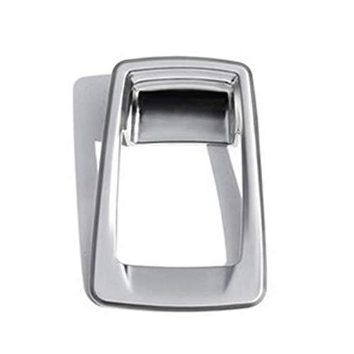Coche Station Wagon freno de mano electrónico P engranaje decorativo marco consola engranaje lentejuelas adecuado para BMW serie 2 (plata)