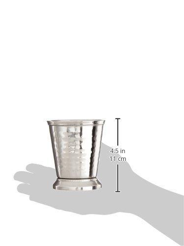Elegance 10 oz Hammered Mint Julep Cup, Medium, Silver