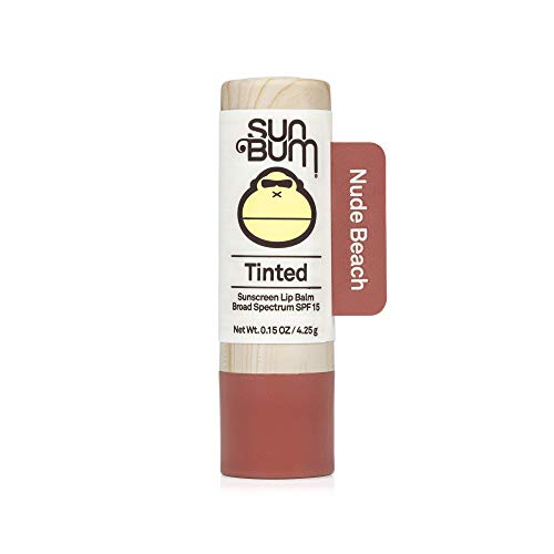 Sun Bum Tinted Lip Balm Nude Beach | SPF 15 | UVA / UVB Broad Spectrum Protection | Sensitive Skin Safe | Hypoallergenic, Paraben Free | Ozybenzone Free | 0.15 Oz