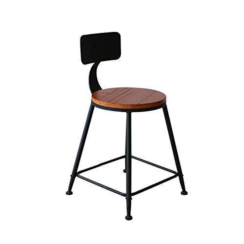 Tabourets de Bar rétro, Chaise de Salle à Manger avec Dossier | Chaise en Bois | Cuisine Design Moderne/Chambre à Coucher/caractéristique/Restaurant/Appartement/café/Assis Taille: 46cm