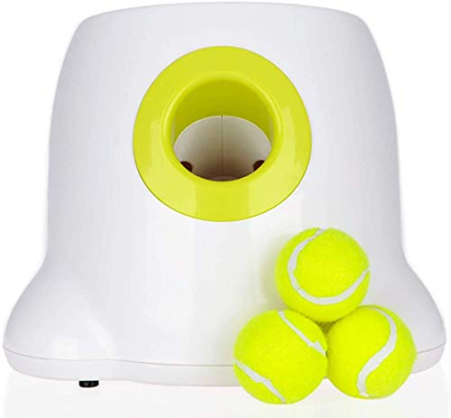 AFP Dog Ball Launcher Automatic Dog Ball Shooter Interactive Dog Tennis Ball Launcher Throwing Machine for Training and Playing and Dog Reward Game Toy Feel Healthy and Happy