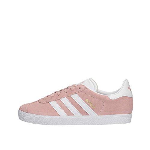 Adidas Gazelle J, Zapatillas de Gimnasia Unisex Adulto, Rosa (Icey Pink F17/Ftwr White/Gold Met. Icey Pink F17/Ftwr White/Gold Met.), 38 EU