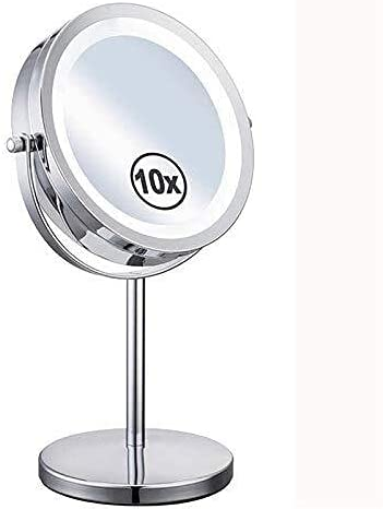 LIMEI-ZEN Led Attention brand Spring new work one after another Round Makeup Mirror 360° Rotation Magnif 7Inch