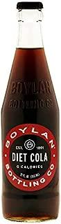 Boylan Bottling Pure Cane Sugar Soda Pop, Diet Cola, 12 oz Glass Bottles (Pack of 12)