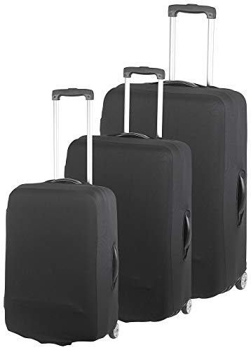 Xcase Kofferüberzug: 3er-Set Elastische Schutzhüllen für Koffer mit 53-66 cm Höhe (Kofferschutzhüllen)