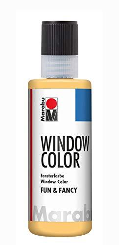 Marabu 04060004029 – Peinture pour fenêtre à base d'eau, amovible sur les surfaces lisses comme le verre, les miroirs, les carreaux et le film 80 ml