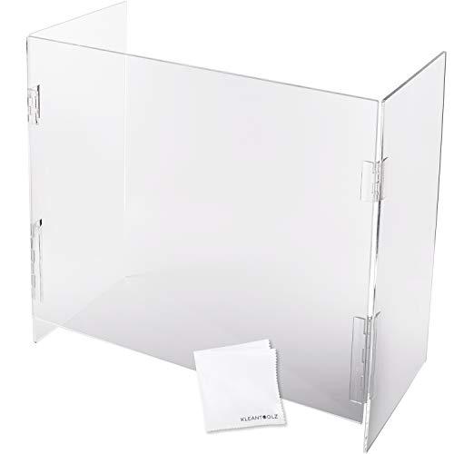 U-Shield Clear Plexiglass Acrylic Protective Sneeze Guard Counter Shield Plexi Glass Screen Divider Barrier for Reception Office School Salon Partition Window (42'L x 24'W)