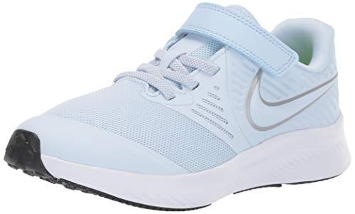 Nike Boys Star Runner 2 (PSV) Sneaker, Half Blue/Metallic Silver-Volt, 2 M US Little Kid