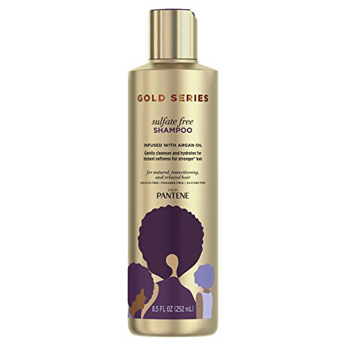 Price comparison product image Gold Series,  Argan Oil Shampoo,  Sulfate Free,  from Pantene Pro-V,  for Natural and Curly Textured Hair,  8.5 fl oz