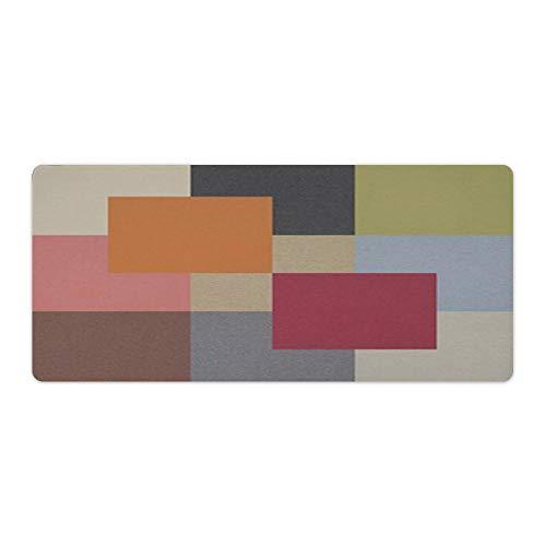 Alfombrilla de ratón multicolor a cuadros para escritorio y portátil, 1 paquete de 800 x 400 x 3 mm.