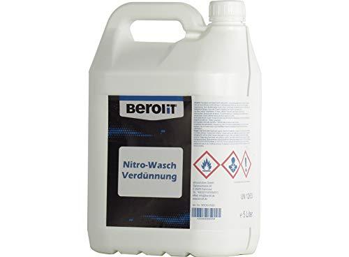 BEROLIT Nitro Waschverdünnung 5 L Nitroverdünnung im Plastikgebinde Verdünnung