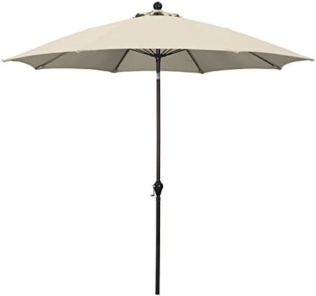 California Umbrella 9 Round Aluminum Pole Fiberglass Rib Umbrella Crank Open Push Button 3 Way product image