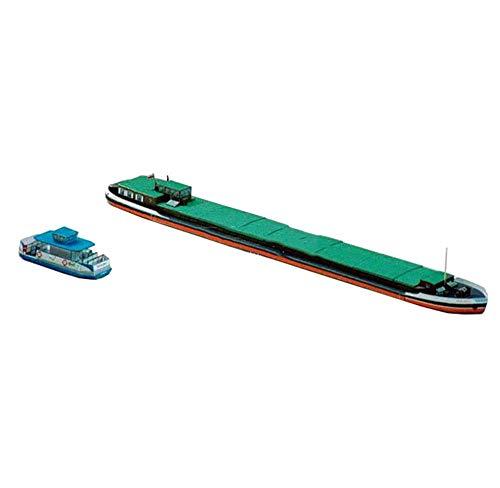 Military Paper Puzzle Modell Spielzeug, 1/400 Maßstab polnischen BM-5401 Frachtschiff Und Mottlau Ferry Kinder Spielzeug und Geschenke, 11.2Inchx1.5Inch Jzx-n
