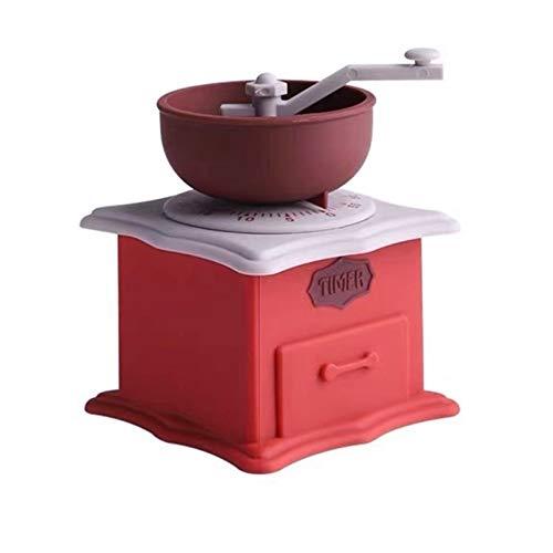 Ekspres do kawy Modelowanie Timer Kreatywny Szlifierki Coffee Maszyna Moka Mini Mechaniczne Zegarki Kuchnia (Color : Red)