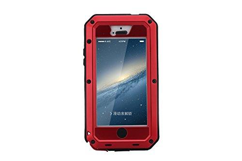 iPhone 5S Custodia Custodia Antiurto, Gorilla Vetro [Impermeabile] Snowproof Polvere/Dirt Prova,Militare Paraurti Resistente Copertura Protezione per iPhone 5/5S & iPhone 5SE Custodia [4.0 Pollici]