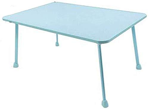 QTQZDD mobiele computertafel inklapbare laptoptafel, luier tafel, kleine tafel op bed, kleine tafel voor kinderen (kleur: blauw, maat: 45 cm x 68 cm) 1 1