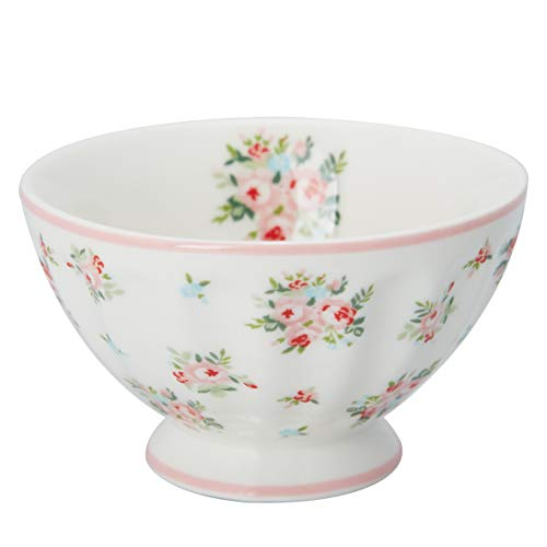 GreenGate STWFREMABI0106 Abigail French Bowl medium White 0,15 l (1 Stück)