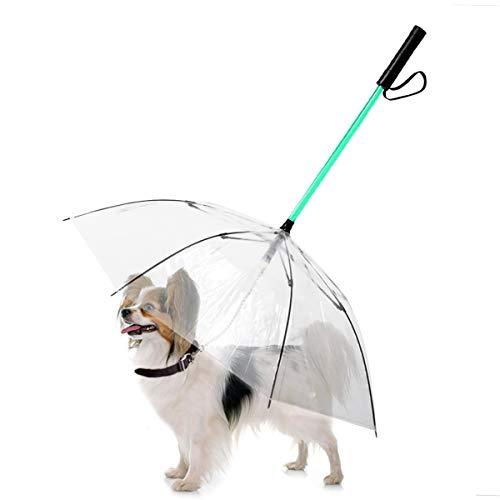 NamsanLEDHaustier-Regenschirm7FarbendesLED-LichtsHundeschirmmitLeine