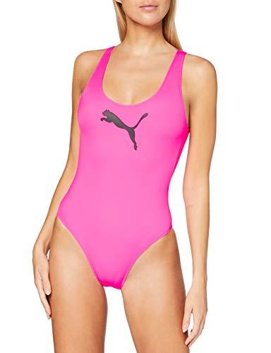 PUMA Frauen Swim Swimsuit Badeanzug, Glowing Pink, M