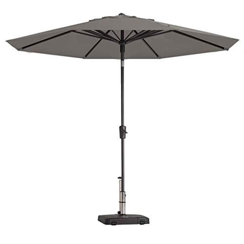 Madison Sonnenschirm UV-Schutz 50+ Wasserabweisend Marktschirm Gartenschirm Ampelschirm Balkonschirm Terrassenschirm Schirm Rund 300cm Hellgrau