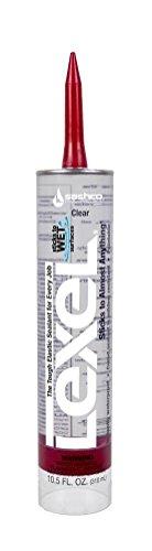 Sashco Inc 13010 2 Pack 10.5 oz. Lexel Adhesive Caulk, Clear