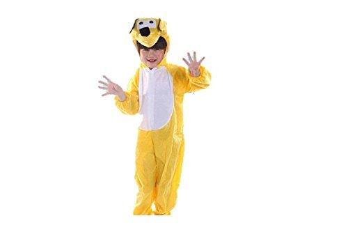 Niños Disfraces de Animales Niños Niñas Unisex Disfraces Cosplay Niños Onesie (Perro Amarillo, M (para niños de 90 a 105 cm de Altura))