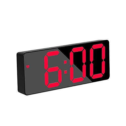 YChoice365 Sveglia Digitale, Orologio da Comodino Sveglia a LED Sveglia Volume della Sveglia Regolabile Display a Cifre Grandi Controllo Vocale Snooze