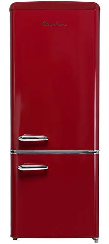 7 cu ft Retro Style Bottom Mount Fridge (Wine Red)