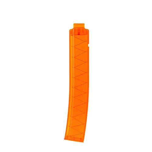 WORKER 18-Darts Short Darts Clip Curvo Talon Revista para Nerf Modify Series Toy & Nexus Pro (Naranja Transparente)