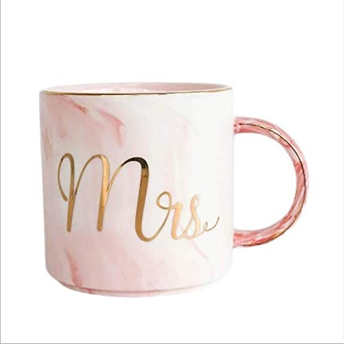 Ysswjzz Stone ware Mokken Koppen met decoratieve pretberichten Ideaal for warme dranken, Afternoon Tea, koffie, latte, warme chocolademelk en More-Miss Pink