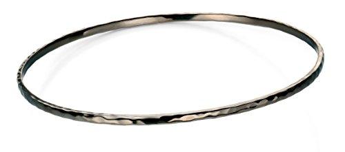 Elements Silver Sterling Silber Ruthenium Versilbert gehämmert Armreif