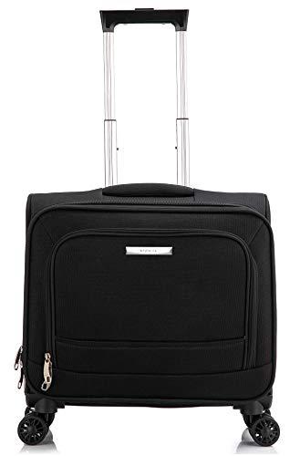 DK Luggage Executive Laptop Roller Case 4 Wheel Black Fits 13.5 Laptop