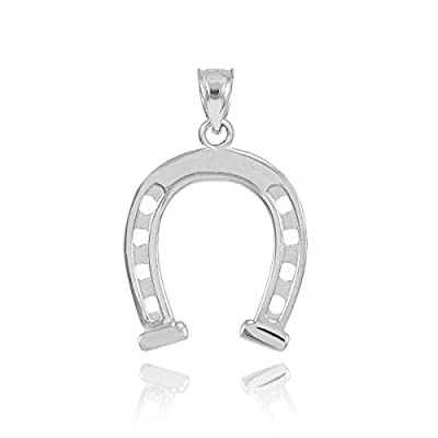 Sterling Silver Lucky Charm Horseshoe Pendant