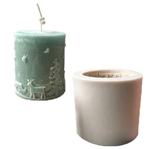 WuLi77 - Molde de silicona 3D para velas de Navidad, molde de jabón/fondant para tartas y chocolates