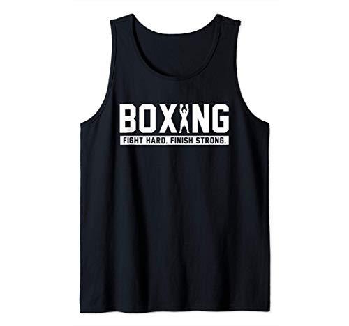 Pugilato Fight Hard Finish Forte Boxe citazione regalo Canotta