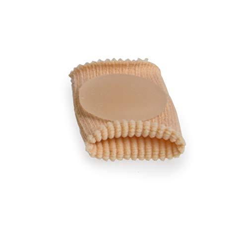 AFH Silikon Zehenschutz Mini mit Gel Kissen | Druckschutz | Schlauchbandage | 10 Stück | (L (ca. 4.0 x 3.0 cm))
