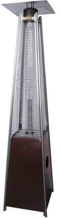 YZPFSD Tower Patio Gas Heater,Bronze Glass Tube Patio Heater, HLDS01-GTHG