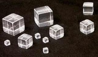 Solid Tumbled Acrylic Cube/Plexiglass Block - Transparent/Clear - 1/2
