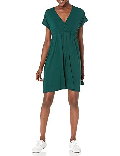Amazon Essentials Solid Surplice Dress,...