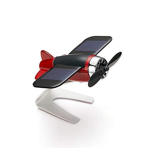 ZHANGJ Auto Dekoration Aromatherapie Flugzeug Dekoration rutschfeste Matte Solar Rotating Aircraft Dashboard, Rot