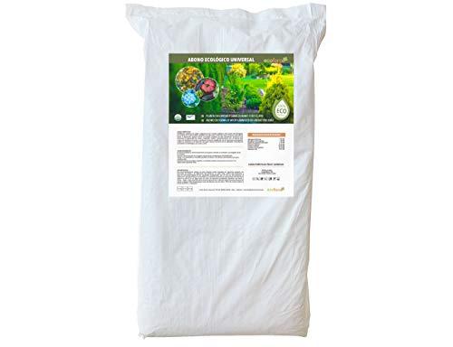 CULTIVERS Abono Ecológico Universal de 25 kg. Fertilizante granulado con NPK 8-1-5+74% M.O. y Ác. Húmicos. Liberación Lenta. Potencia el Crecimiento y estimula el cultivo. FRUTELLA