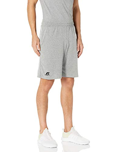 Russell Athletic mens Cotton & Jogger With Pockets Short, Basic Cotton - Oxford, Large US