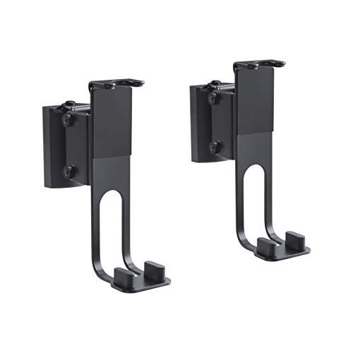 PureMounts PM-SOM-100 Supporto da parete per altoparlanti, compatibile con Sonos One, Sonos One SL, Sonos Play: 1, carico: 3 kg, nero