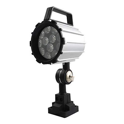 Without brand 1pc Short Arm LED-Arbeitslicht 12W 24V ~ 36V Aluminium-Legierung Beleuchtung 280mm for Lathe CNC-Fräsmaschine (Farbe : Silber-)