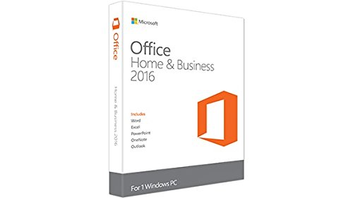Microsoft Office 2016 Home and Business - Medialess [import espagnol]