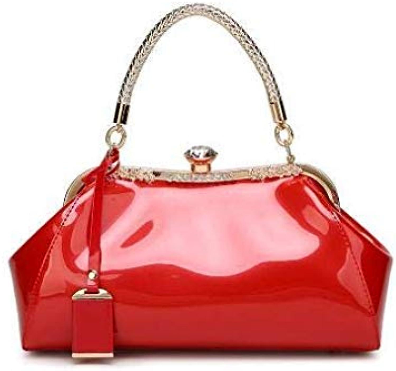 High Quality Solid Women Handbags New Brand Designer Fashion Luxury Women Shoulder Bags Ladies Diamonds Crossbody Bags Red