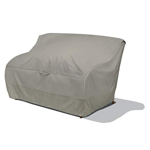 Duck Covers WLV623835 Weekend Water-Resistant 60 Inch Integrated Duck Dome, Moon Rock Patio Loveseat Cover
